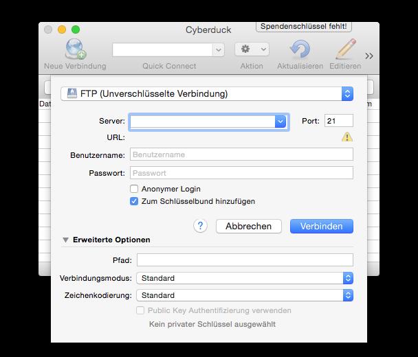 FTP-Tutorial - Cyberduck 2