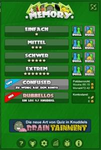 Aktuelle Version von Memory inkl. verschiedener Spielmodis