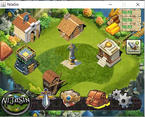 Ansicht des Startbildschirmes von NiJaSin