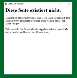 Datei nicht gefunden - Fehlermeldung