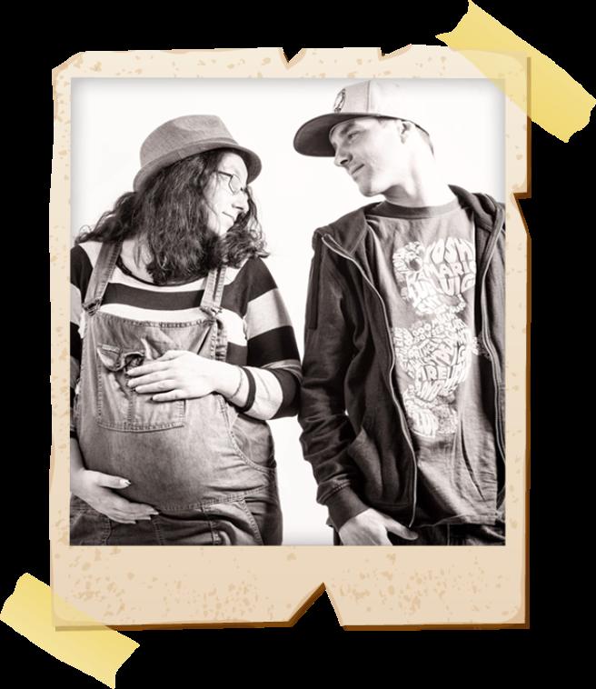 Paarfoto von Schildi (li.) und Chris(re.)